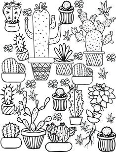 Cactus and Succulent Printable Adult Coloring Pages Cactus a. - Cactus and Succulent Printable Adult Coloring Pages Cactus and Succulent Printab - Pattern Coloring Pages, Printable Adult Coloring Pages, Cute Coloring Pages, Coloring Pages To Print, Coloring Books, Coloring Pages For Adults, Free Coloring, Kids Coloring, Summer Coloring Pages