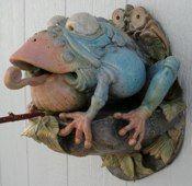 Douglas Fey - Blue frog birdhouse