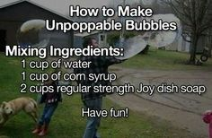 Unpoppable, indestructable bubbles