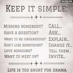 Don't let your life be drama!