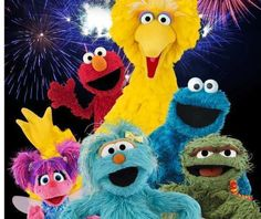 Our friends from Sesame Street