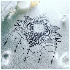 FLOR DE LÓTUS COM OXUM. Arte encomendada, destino: Salvador-BA. Encomendas/orçamentos através do e-mail: notovic@gmail.com Boho Tattoos, Body Art Tattoos, Hand Tattoos, Tatoos, Tattoo Art, Hamsa Tattoo Design, Hamsa Hand Tattoo, Mehndi Designs, Tattoo Designs