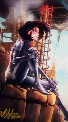 Mobile Wallpaper, Iphone Wallpaper, Alita Movie, Alita Battle Angel Manga, Female Cyborg, Angel Illustration, The Best Films, Cyberpunk Art, Ghost In The Shell
