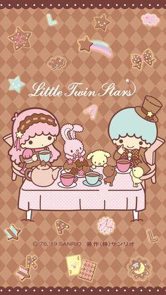Little Twin Stars My Melody Wallpaper, Cute Pastel Wallpaper, Sanrio Wallpaper, Star Wallpaper, Kawaii Wallpaper, Girl Wallpaper, Iphone Wallpaper, Phone Backgrounds, Little Twin Stars