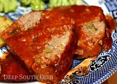 A nice, tender and tasty meatloaf, infused with the trinity, seared and cooked in a roux based tomato gravy.