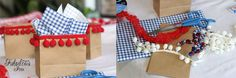 Fabulous You: 4th of July Picnic on a Dollar Store Budget. Cute treat bags, would also be great for a small gift when you run out of wrapping paper.