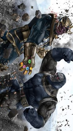 "league-of-extraordinarycomics: ""Thanos vs Darkseid by Uncannyknack. """