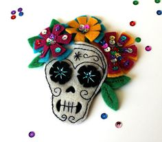Dia de los Muertos Hair Accessory by Vitamini, via Flickr
