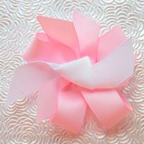 Ribbon bow with alligator clip back