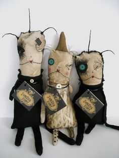 Monster Rag Dolls at Davinci by junkerjane, via Flickr