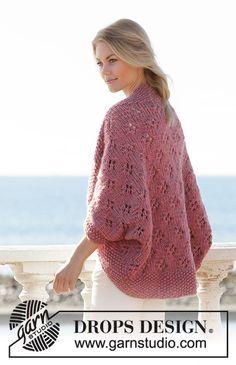 Drops Design, Baby Knitting Patterns, Lace Knitting, Finger Knitting, Scarf Patterns, Knitted Poncho, Crochet Cardigan, Knit Crochet, Cozy Knit