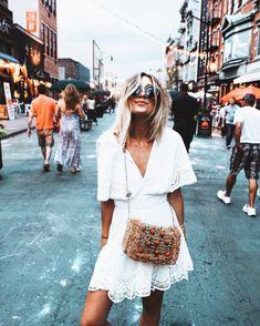 a white sun dress is a true summer staple