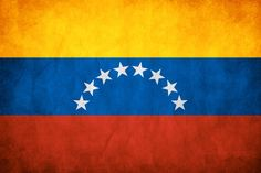 """The tricolor used in Venezuela was designed in 1811 during the Venezuelan War of Independence. The stars were added later, and their number and placement varied throughout the years.  The yellow represents the wealth of the land, red represents courage, and the blue represents independence from Spain:  """"Golden"""" America separated from """"bloody"""" Spain by the big, blue ocean."""