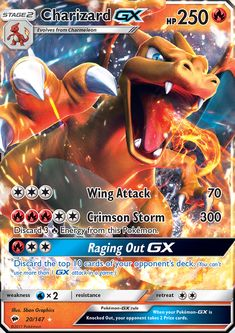 Charizard GX - SM - Burning Shadows, Pokemon - Online Gaming Store for Cards, Miniatures, Singles, Packs & Booster Boxes Pokemon Charizard, Pikachu, Evoluções Eevee, Pokemon Fusion, Pokemon Ninetales, Cool Pokemon Cards, Rare Pokemon Cards, Pokemon Trading Card, Games