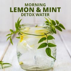 Super charge your morning with this delicious Morning Lemon & Mint Detox Water!  #morningwater #lemonmint #detoxwater