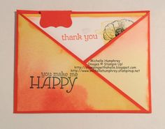 Stamping with Shelle: Happy Watercolor Criss Cross Card