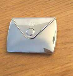 Envelope  Shaped  dual mirror  compact   | eBay Mirror Shapes, Compact Mirror, Silver Color, Heart Shapes, Good Things, Things To Sell, Envelope, Jewellery, Ebay