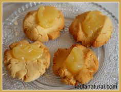 coconut and lemon curd cookies close up Loula Natural
