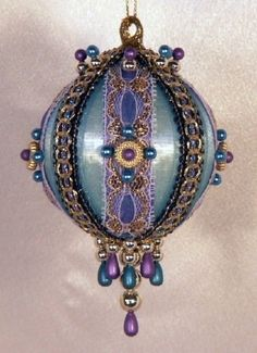 Handmade Victorian Christmas ornaments