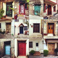 The doors of Bozcaada, Çanakkale, Turkey