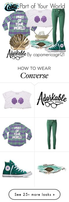 """Part of Your World"" by capamericagirl21 on Polyvore featuring Disney, M Missoni, Converse, women's clothing, women's fashion, women, female, woman, misses and juniors"