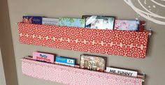 Bookshelves DIY: Sling Book Display Ideas Tutorial on Sewing