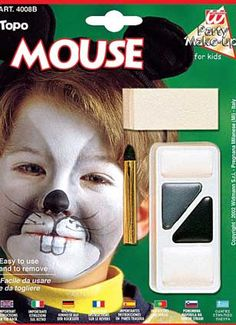 MAKEUP: This is the makeup for Templeton. This fits him well. Cute Halloween Makeup, Halloween Looks, Fall Halloween, Rat Costume, Cute Costumes, Simply Fancy Dress, Animal Makeup, Christmas Concert, Mouse Parties