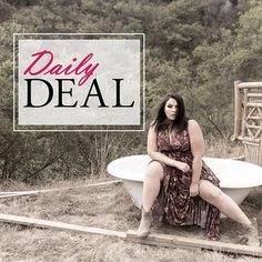 We launch a new way to save on the site. Everyday we will have a daily deal of a full priced item marked down to a special price just for you. Make sure to check daily! You don't want to miss out on these savings. Click the link in our bio to shop our daily deals.