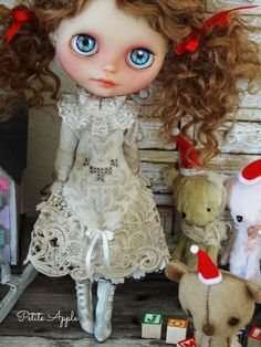 """Blythe doll dress """"Victorian holidays"""" antique outfit"""