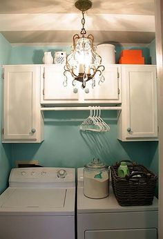 Short on Space in the Laundry Room Try One of These Simple Ideas