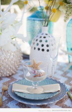 Ideas para decorar una mesa de bodas en la playa