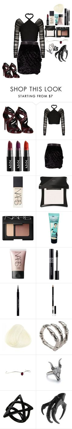 """""""Bad Bishh"""" by sierraelizabitch ❤ liked on Polyvore featuring Dolce&Gabbana, Balenciaga, Minty Meets Munt, NARS Cosmetics, Illamasqua, Benefit, Christian Dior, Givenchy, Bernard Delettrez and House of Harlow 1960"""