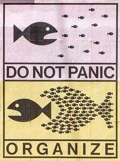 Do not panic, organize...