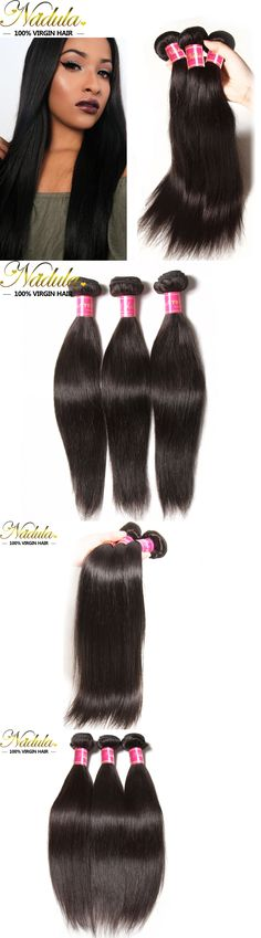 Hair Extensions: 3Bundles Brazilian Straight Hair 300G Unprocessed Brazilian Human Hair Extension BUY IT NOW ONLY: $122.29