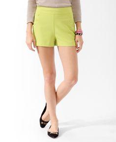 Bold Scalloped Button Shorts.