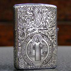 Premium 925 Sterling Silver Pope Constantine Zippo Lighter Armor #4