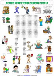 Printable action verb pictures for kids
