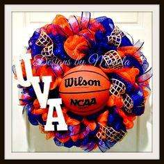 UVA wreath $75 www.designsbymichela.com