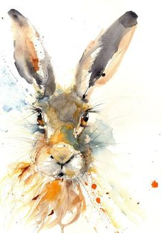 LIMITED edition PRINT Hare Illustration, Hare Art Print, Rabbit wall art, Hare painting, Hare watercolour home decor watercolour Hare giclee - Hase Watercolor Animals, Watercolor Paintings, Portrait Watercolour, Watercolours, Hare Illustration, Watercolour Illustration, Lapin Art, Bunny Painting, Rabbit Art