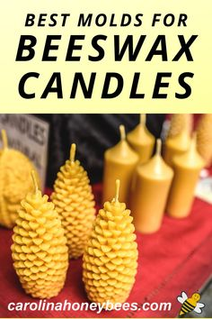 Using molds to make beeswax candles is very easy.  There are several different types of molds suitable for making beeswax candles.  Which type is best for you?  #carolinahoneybees