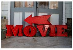 Make this movie marquee for your backyard movie night party.
