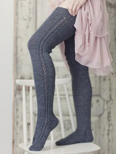 Over-knee strumpor Novita Nalle Crochet Socks, Knitting Socks, Knit Crochet, Beautiful Outfits, Cute Outfits, Donia, Sexy Socks, Thigh High Socks, Wool Socks