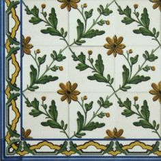 Hand Painted Decorative Tiles Gorgeous Tmp 2757 Portuguese Hand Painted Decorative Tile  Для Квилта Decorating Design