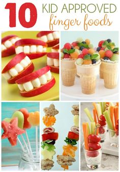 Why is it that the smile apple and marshmallow snacks immediately make me think of Tanner? 10 Kid Approved Finger Foods { lilluna.com }