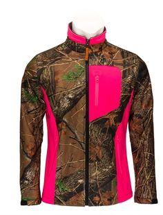 Trail Crest Women's Camo & Neon Colors Custom Soft Shell Waterproof Jacket at Amazon Women's Coats Shop