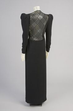Woman's Evening Dress Designed by James Galanos, American, born 1924. Worn by Mrs. Marilyn Evins. Geography: Made in United States, North and Central America Date: Fall 1982
