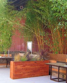 planter box for back patio