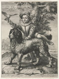 Portrait of Frederick de Vries and His Dog, 1597 Hendrick Goltzius (Dutch, 1558-1617).  Goltzius made this print for his friend the painter Dirck de Vries (Netherlandish, active 1590-1609) to let him know how his son was progressing under Goltzius's care in the Dutch city of Haarlem.