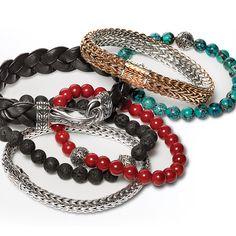 @johnhardy bracelets help men stay on trend.