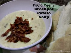 Paula Deen Crockpot Potato Soup is amazing and you only need 5 ingredients!!!